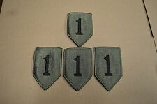 Lot of 4 US Army 1st Infantry Division Subdued Embroidered Unit Patches