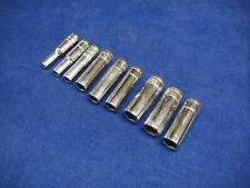 "9 x Imperial AF 1/4"" Drive Deep Sockets Single Hex 1/2"" - 3/16"""