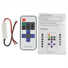 Single Color Led Strip Lamps Light Mini DC 12V 10Key RF Dimmer Controller Switch