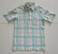 Vintage Arnold Palmer Renown Blue White Plaid Golf Polo Shirt Women Size S-M