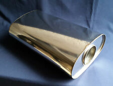"89mm bore (3½"") 10x5 Oval x 14"" Long Universal Stainless steel exhaust silencer"
