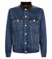 Men`s NEW LOOK Denim Jacket Sizes Size Medium M Cord Collar - New with Tags