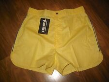 NEW Vtg 70s 80s Vanderbilt YELLOW Striped Mens LARGE Retro TENNIS Track shorts L