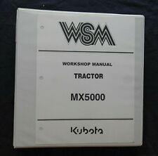 ORIGINAL KUBOTA MX5000 TRACTOR SERVICE REPAIR WORKSHOP MANUAL VERY NICE SHAPE