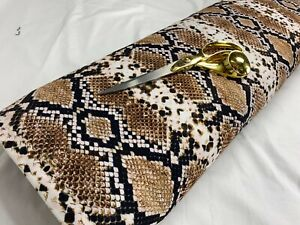 "*NEW*Soft Stretch Viscose Jersey Snake/African Dress Fabric*FREE P&P* 63""-64""Wde"