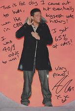 ALEX REID Signed 12x8 Photo CELEBRITY BIG BROTHER Winner COA