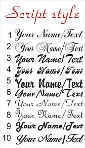 CUSTOM Personalised Your Name Text lettering SCRIPT STYLE decal sticker vinyl S1