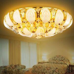 Luxury Modern Crystal Ceiling Light Pendant Lamp Gold Fixture Lighting