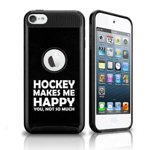 For Apple iPod Touch 5th 6th Shockproof Hard Case Cover Hockey Makes Me Happy