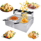 Deep Fryer Fry Daddy w Basket Stainless Steel Electric Countertop Large Capacity photo