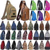 Men Women Crossbody Bags Shoulder Sling Zip Backpack Travel Messenger Sport Bag
