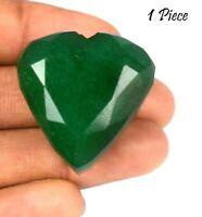 Vert émeraude naturel 150-200 Ct Gemstone brésilien 1 pièce en forme de coeur