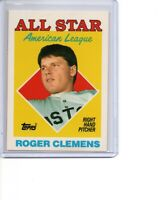 1988 Topps Tiffany #394 Roger Clemens All Star Boston Red Sox