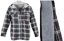 Men's Winter Jacket Hoodie Sherpa Fleece Lined Flannel Jacket - Free Shipping