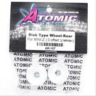 Atomic AR-107 Dish Type Wheel Rear for Mini-Z 0 Offset White