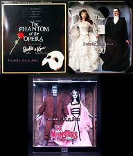 Phantom of the Opera Barbie Doll Munsters Lily Herman Ken NRFB Lot 2 Halloween G