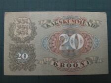 More details for estonia 1932, 20 krooni collectable banknote. fine