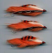 Trout Flies: Snake Flies. Tiger Prawn: Tied in the UK x 3 size 8 hook (code 423)