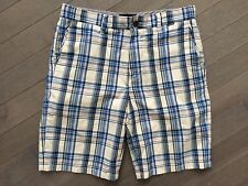 Men's HURLEY Flat Front Casual/Walking Beach Plaid Shorts  Size 31