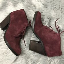 Women's Steve Madden Jayson Red Maroon Suede Ankles Boots 8.5