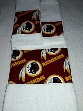 Washington Redskins 3 Piece Bath Towel Set Handmade Great Gift!