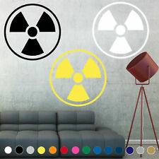 Radioactive Decal Biohazard Symbol Sign Wall Art Door Room House Logo Decor V2