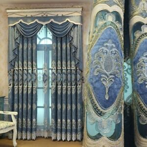 Exotic Embroidery Curtain Cloth Pelmet Guipure Lace Voile Window Panel Drape DIY