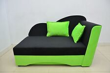 SINGLE BED SOFA BED 'WAVE' , LARGE STORAGE AND SPRINGS! velvet fabric, SOFT!