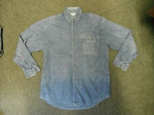 Burton Large Mens Blue Casual Dress Denim Shirt
