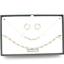 Department 18k Gold/sterling Silver Infinity Necklace Set C504