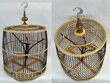 Cage à oiseaux bambou, déco int/ext, artisanale, importée de Thaïlande (12014)