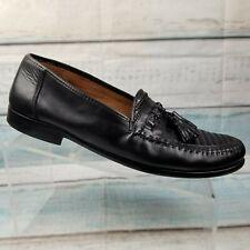 Nordstrom Mens Kappa Black Leather Weave Tassel Loafers Size 10.5 B Spain