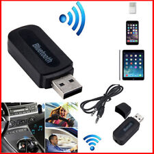 USB Wireless Mini Bluetooth Aux Stereo Audio Music Car Adapter Receiver 3.5mm