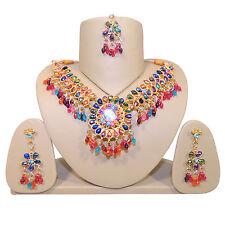 Bollywood Set Multicolor Holi bunte Steine Indien Schmuck Accessoire