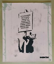 The Real Not Banksy - April Fools screen-print ARTIST PROOF Signed with COA