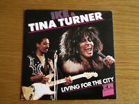 """IKE & TINA TURNER Living For The City 1986 UK 7"""" VINYL SINGLE IN PICTURE SLEEVE"""