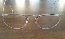 Vintage Gold Rim Bifocal Eye Glasses 1/10 12 KGF Gold Filled Frameless Bottom