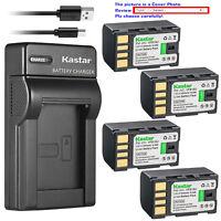 Kastar Battery Slim Charger for JVC BN-VF815 & GZ-HD7 GZ-HD7AC GZ-HD7B GZ-HD7EK