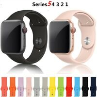 For Apple Watch 5 4 3 2 1 Silicone Sport Band 38/40mm 42/44mm Size S/M & M/L