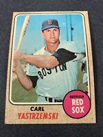 1968 Topps Baseball CARL YASTRZEMSKI #250 Boston Red Sox EXMT ~MR12