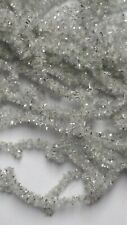 5 Yards White Silver New Age Crystal Chenille Size #2 Medium for Fly & Jig Tying