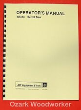"""JET/Asian SS-24 24"""" Scroll Saw Operator's Instructions & Parts Manual 0911"""