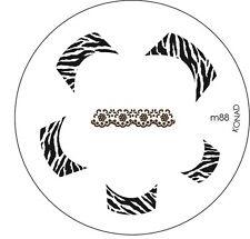 """KONAD Stamping Schablone """"M88"""" French Zebra Nail Art Stamp"""
