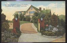 1910s POSTCARD MOVIE STAR HOME PICKFORD FAIRBANKS BEVERLY HILLS CA CALIFORNIA