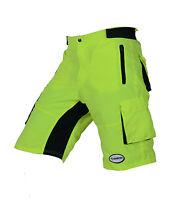 Zimco Pro Comfort MTB Mountain Bike Baggy Shorts with Lycra CoolMax Padded HiViz