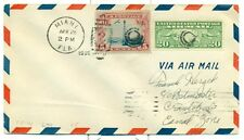 1930 PANAM FLIGHT COVER AAMC FAM 5-44 MIAMI TO CANAL ZONE LINDBERGH #70  LINDY