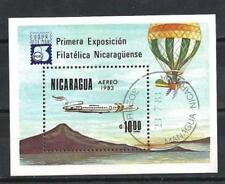 Avions Nicaragua (30) bloc oblitéré