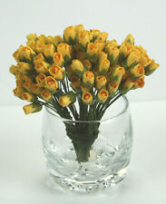 # 10 Small Yellow Rosebuds on stems by Green Tara