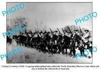 OLD 6 x 4 PHOTO CURTIN COWBOYS WWII NORTHERN AUSTRALIAN DEFENCE FORCE