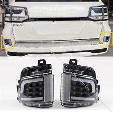 Black 2pcs LED Rear Fog Light Brake Backup 2016-19 For Toyota Land Cruiser LC200